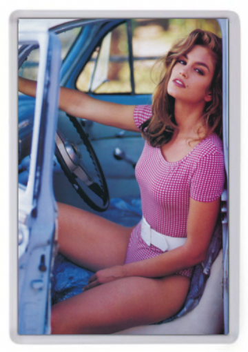 Cindy Crawford (Pick Up Truck)  Fridge Magnet
